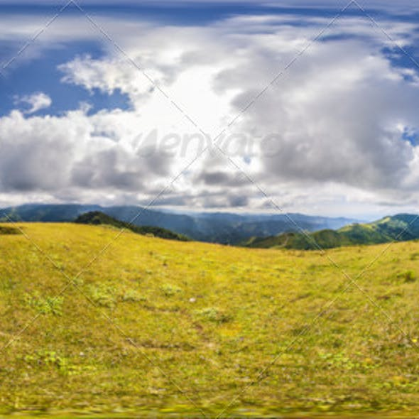 HDRI As Mountains And Clouds