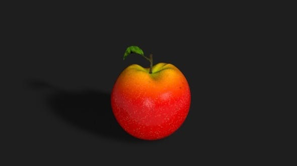 Realistic Red Apple - 3DOcean Item for Sale