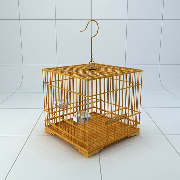Chinese Style Bird Cage 1 - 3DOcean Item for Sale