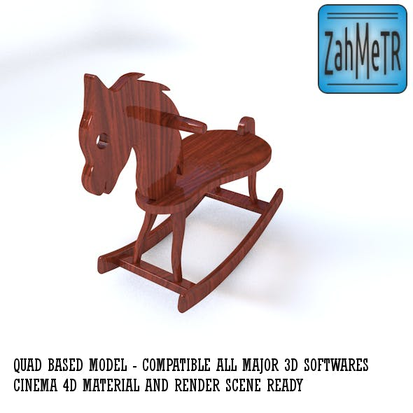 Wooden Rocking Horse and Quad Mesh - 3DOcean Item for Sale