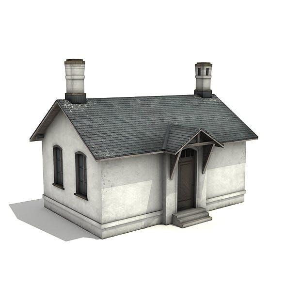 White Brick Building - 3DOcean Item for Sale