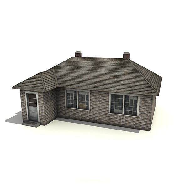 Brick House Building - 3DOcean Item for Sale