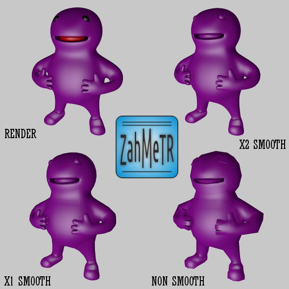 Mascot Character and Quad Base Mesh