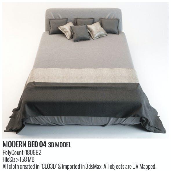 Modern Bed 04 3D Model