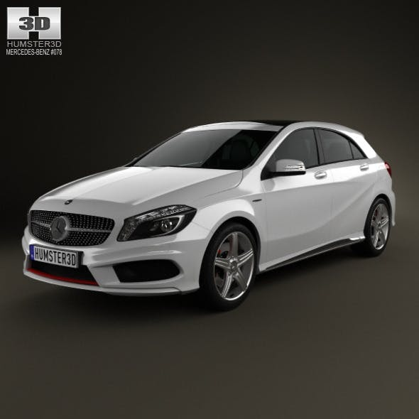 Mercedes-Benz A-class with HQ interior 2013 - 3DOcean Item for Sale