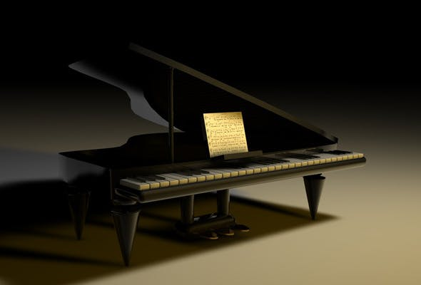 Piano 3D Model - 3DOcean Item for Sale