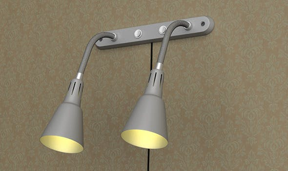Realistic Ikea Wall Lamp - 3DOcean Item for Sale