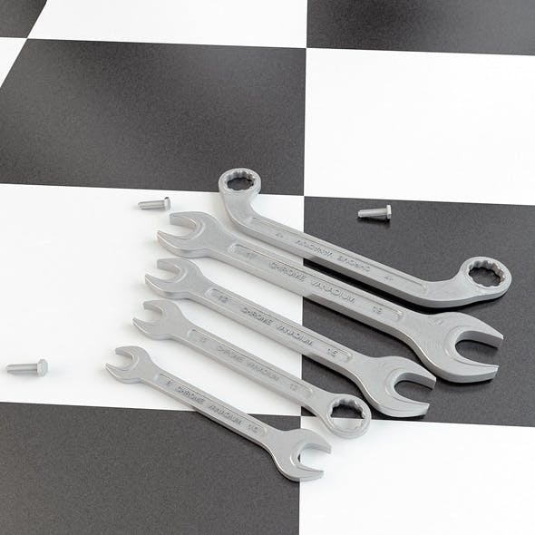 Wrenches - 3DOcean Item for Sale