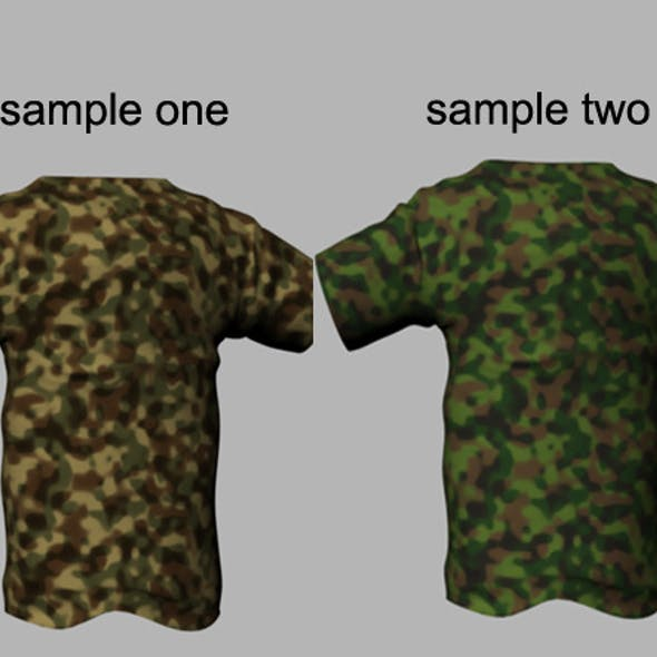 Army camouflage tileable texture cloth Shader