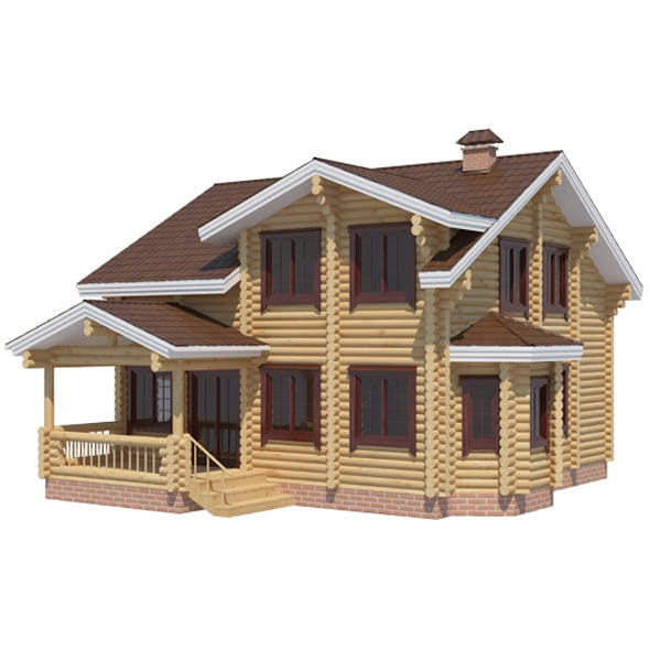 Log House - 3DOcean Item for Sale