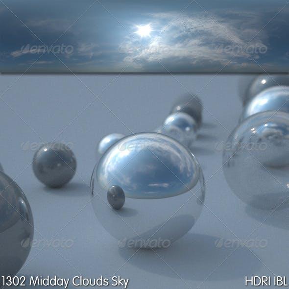 HDRI IBL 1302 Midday Clouds Sky
