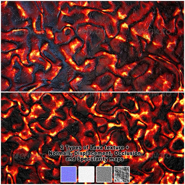 2 Types of HQ Lava / Magma Textures