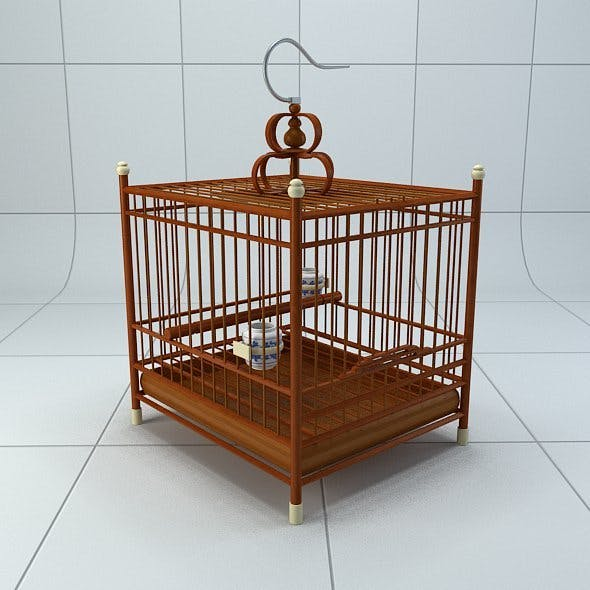 Chinese style bird cage 2 - 3DOcean Item for Sale