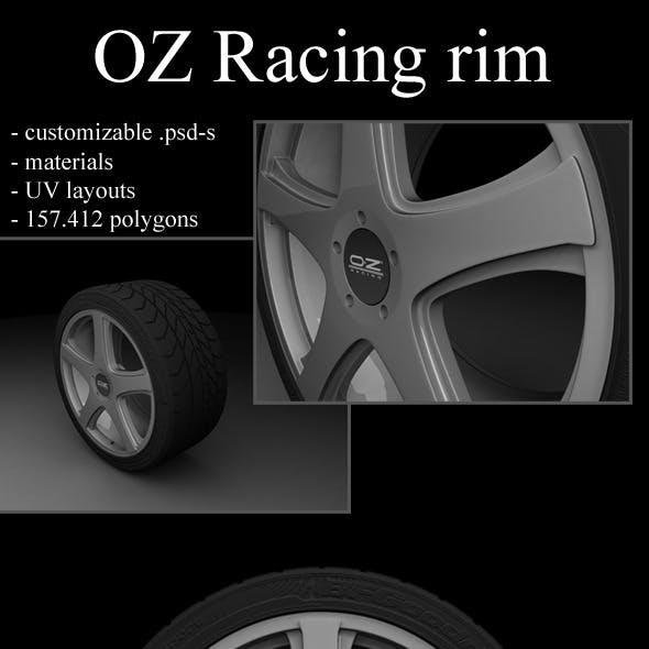 OZ rim with tire