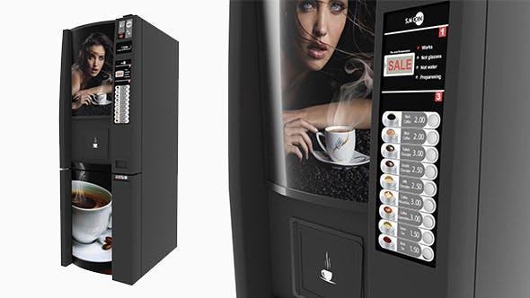 Coffee Vending Machine - 3DOcean Item for Sale