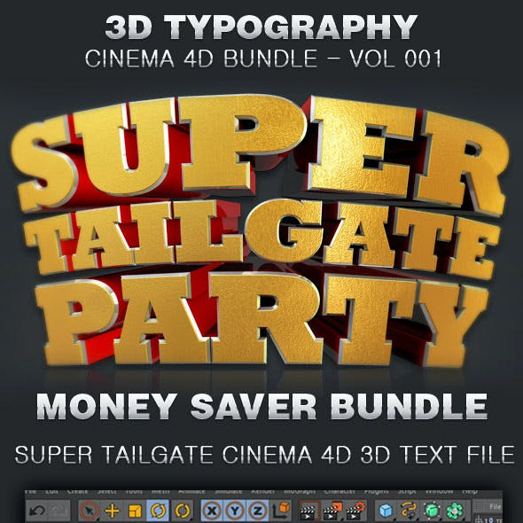 3D Typography Cinema 4D Bundle-Vol 001