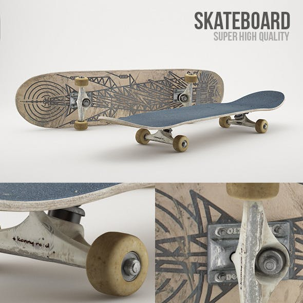 Skateboard Photorealistic