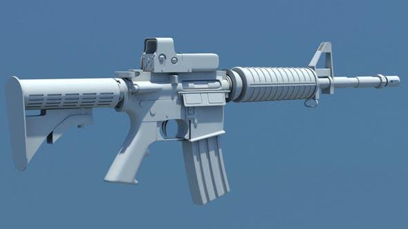 M4 Carbine Assault Rifle - 3DOcean Item for Sale