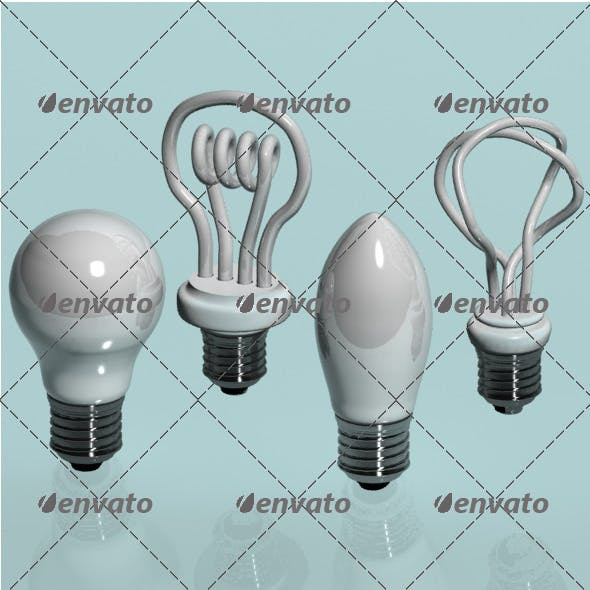 Energy Saving Lamps. - 3DOcean Item for Sale