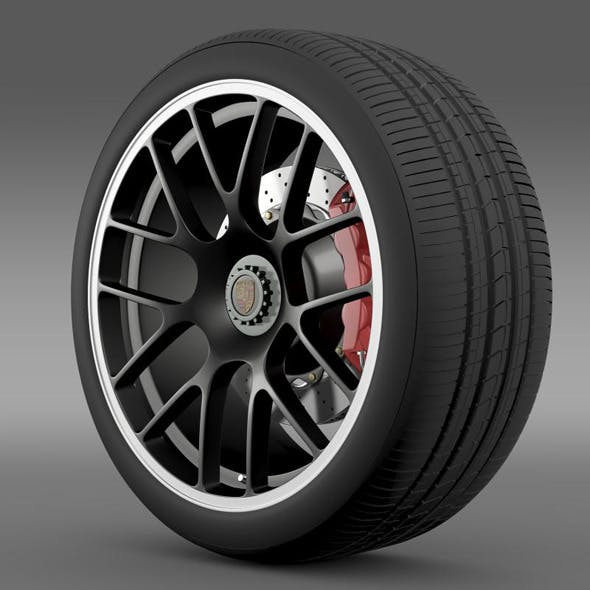 Porsche 911 Carerra GTS wheel