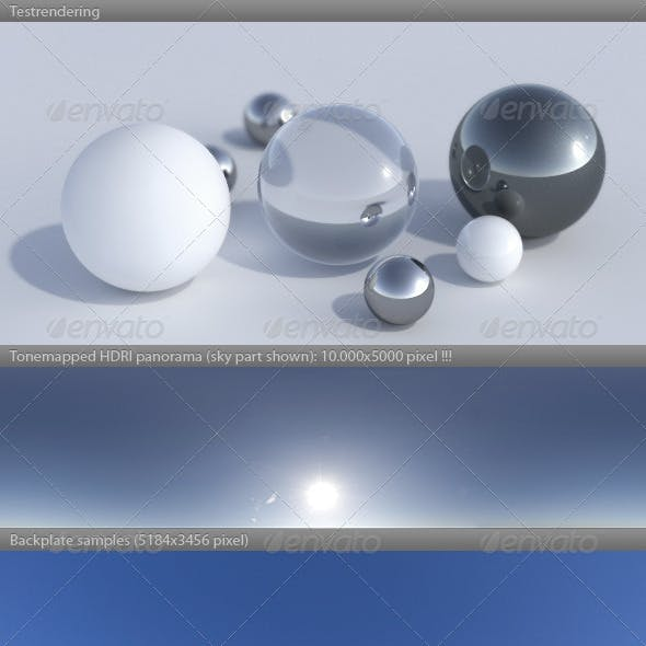 HDRI spherical sky panorama -1434- sunny noon sky