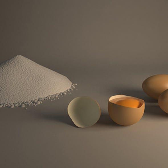 Egg and Flour Scene
