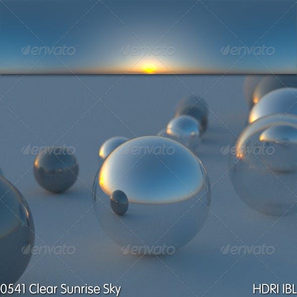 HDRI IBL 0541 Clear Sunrise Sky