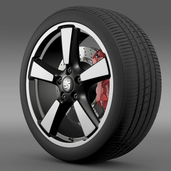 Porsche 911 50YearEditions wheel  - 3DOcean Item for Sale