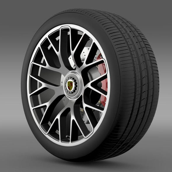 Porsche 911 Turbo S 2013 wheel  - 3DOcean Item for Sale