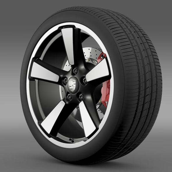 Porsche 911 50YearEditions wheel 2  - 3DOcean Item for Sale