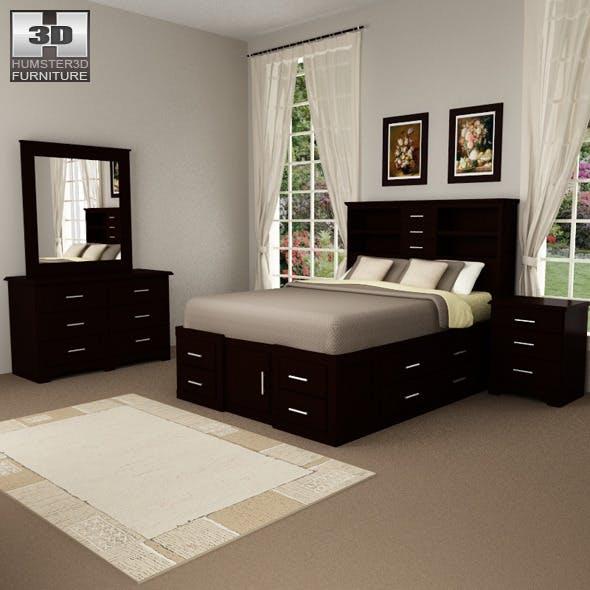 Bedroom Furniture 24 Set - 3DOcean Item for Sale