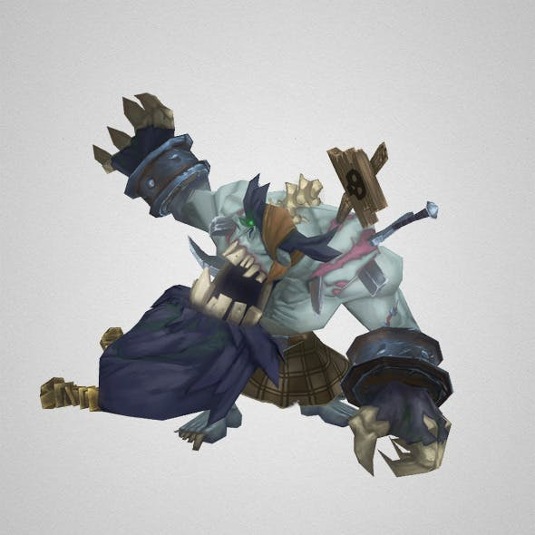 Low Poly Zombie King