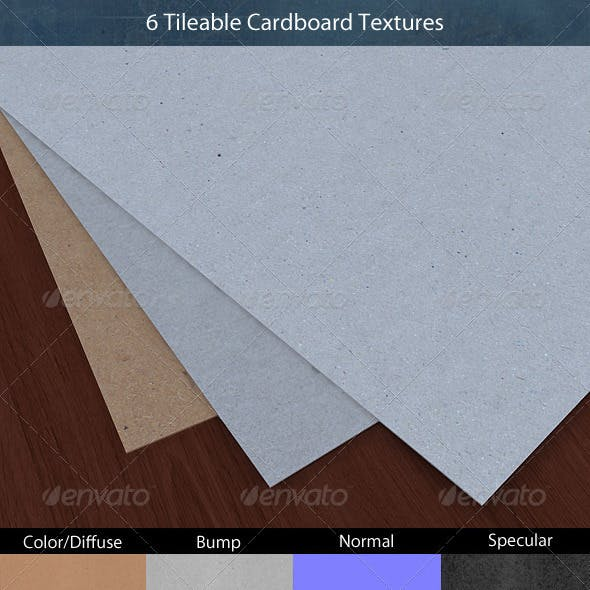 Tileable Cardboard Texture Pack