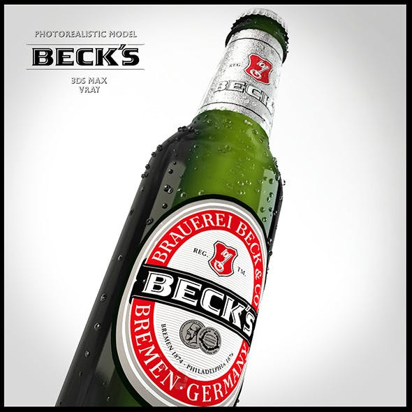 Photo-real Becks Bottle - 3DOcean Item for Sale