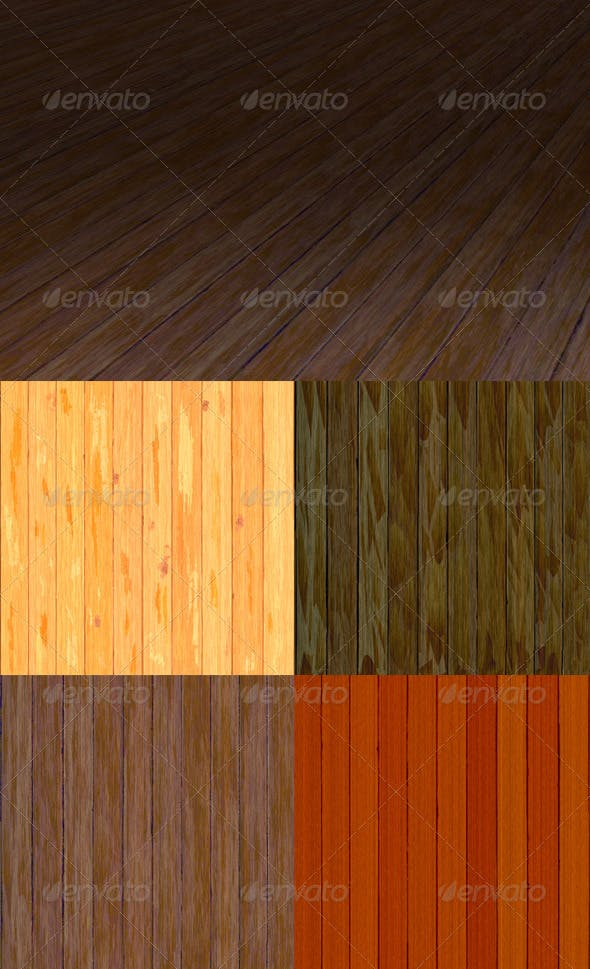 32 Tileable Wooden Plank Textures Pack - 3DOcean Item for Sale