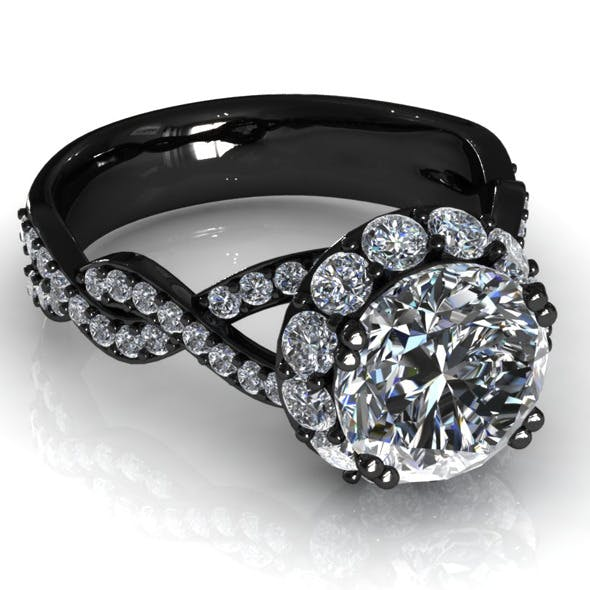 Diamond Ring Creative 004 - 3DOcean Item for Sale