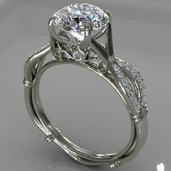 Diamond Ring Creative 008 - 3DOcean Item for Sale