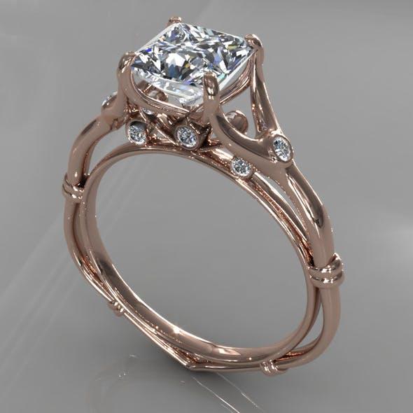 Diamond Ring Creative 009 - 3DOcean Item for Sale
