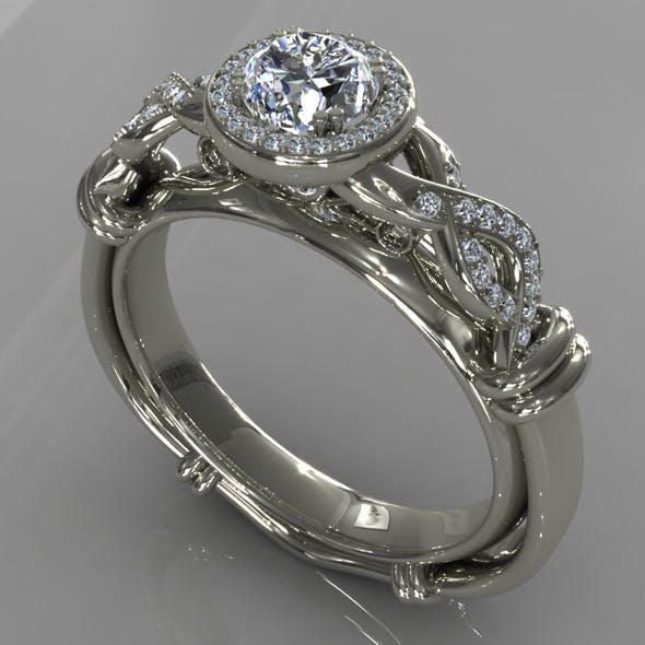 Diamond Ring Creative 012 - 3DOcean Item for Sale
