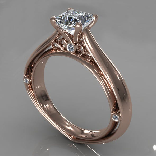 Diamond Ring Creative 014 - 3DOcean Item for Sale