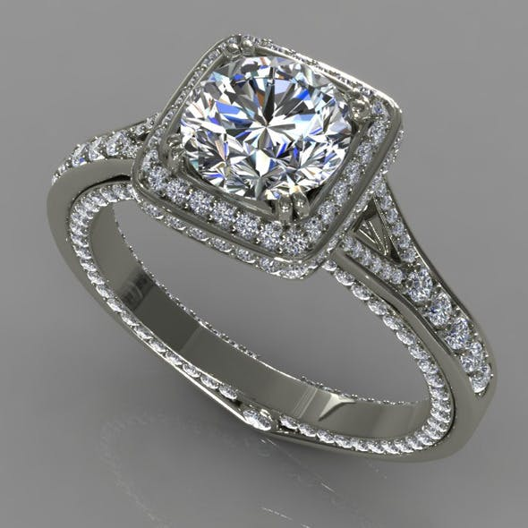 Diamond Ring Creative 021 - 3DOcean Item for Sale