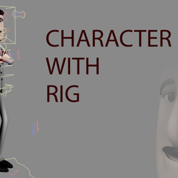 Bartender Character with Rig