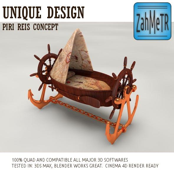 Pirate Boat Crib Piri Reis Concept