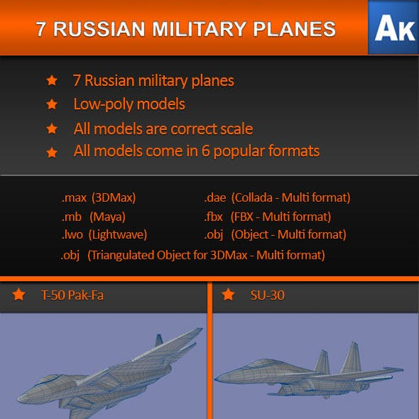 7 Russian Military Planes