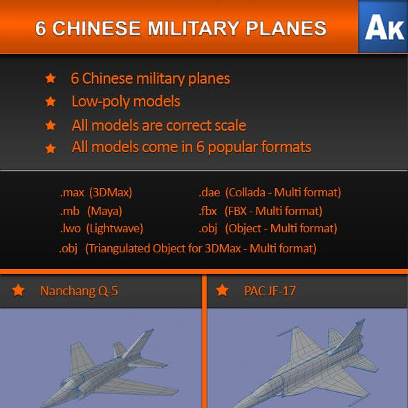 6 Chinese Military Planes