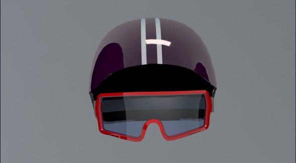 Ski Helm & Googles - 3DOcean Item for Sale