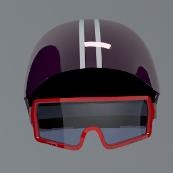 Ski Helm & Googles