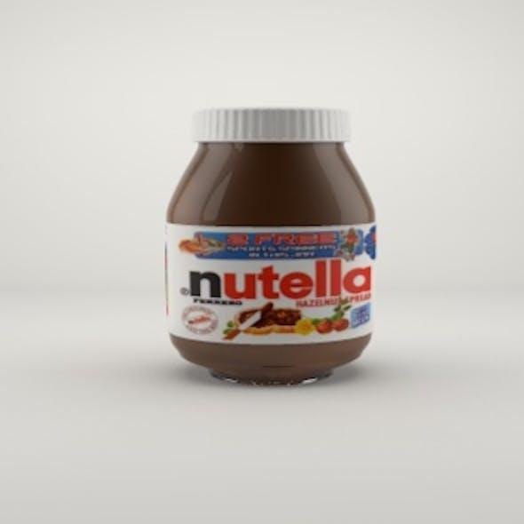 Jar with Chocolate Cream