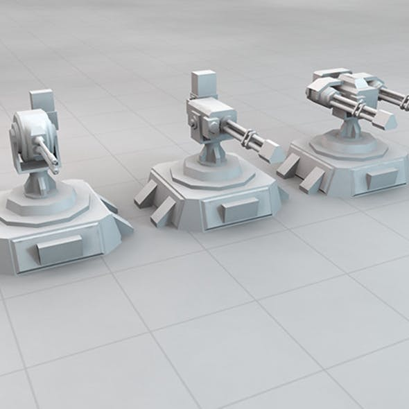SCi-FI Turret Set