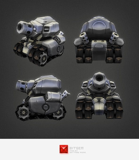 Low Poly Micro Tank - 3DOcean Item for Sale